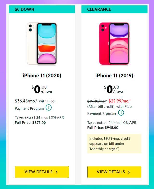 iphone 11 fido