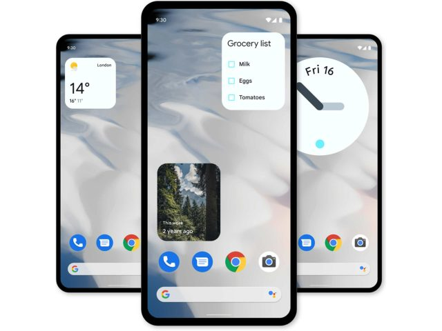 android 12 widgets header scaled