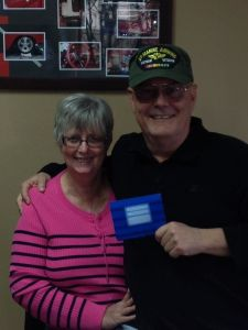 The 2012 Marine Corps Reserves Toys For Tots Raffle Winners, Bob and Kathy C.