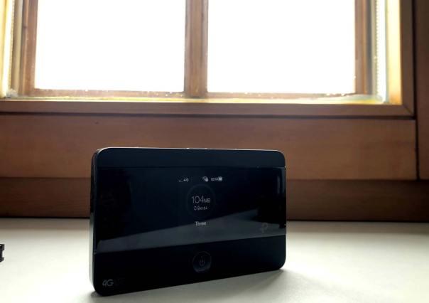Router am Fenster