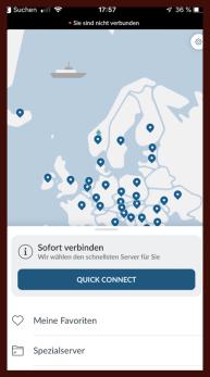 NordVPN App Connect iOS