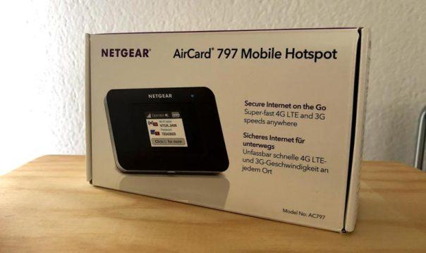 Netgear Aircard AC797 Verpackung