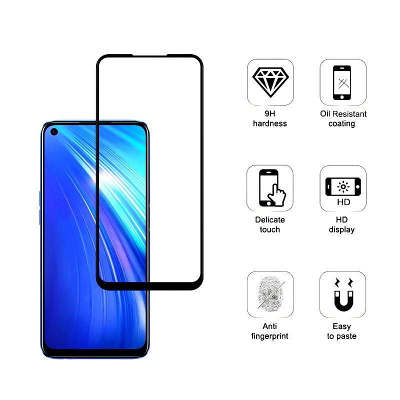 realme 6 edge to edge tempered glass