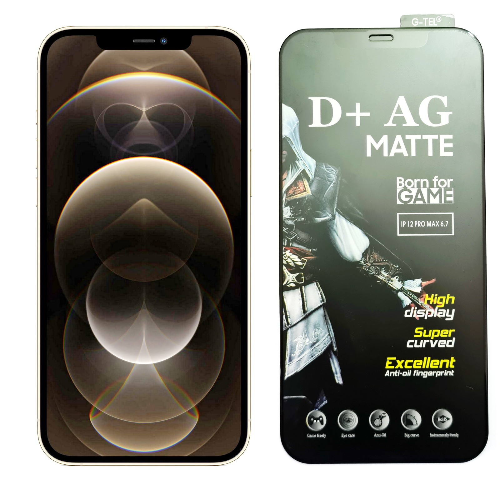iPhone 12 Pro Max D+ AG Matte Tempered Glass Screen Protector