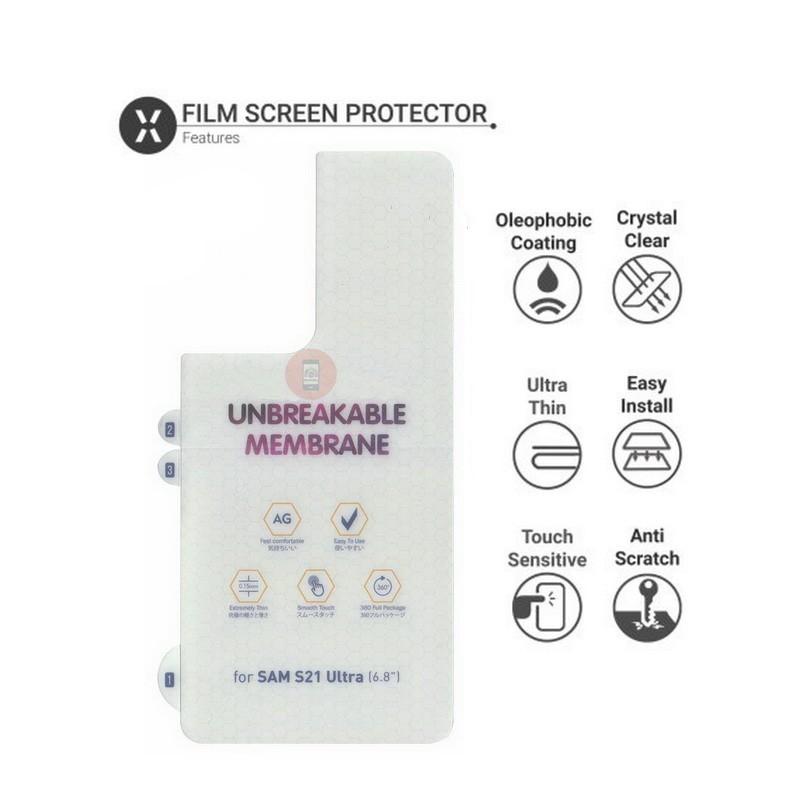 Galaxy S21 Ultra Transparent Back Protector TPU Skin Film Screen Guard