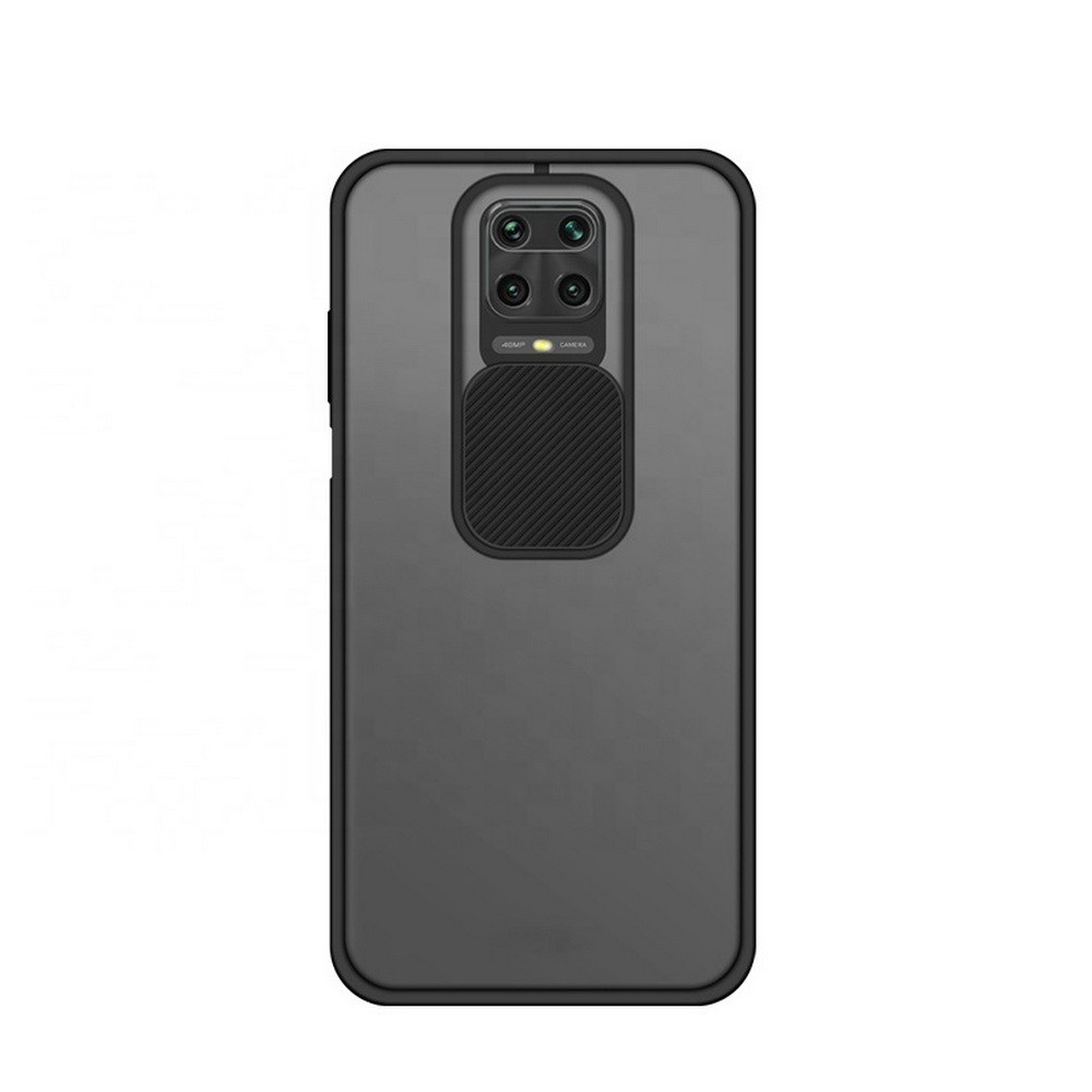 Poco M2 Pro Camera Shutter Slide Smoke Back Case Cover