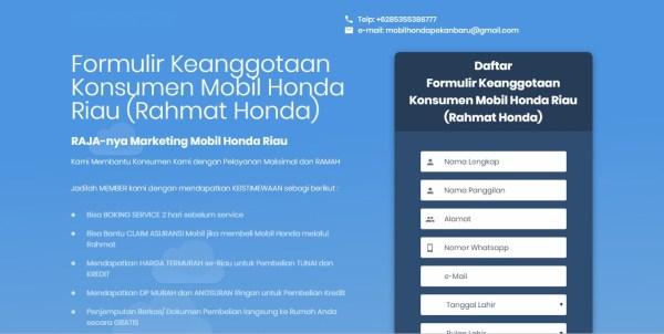 Booking Service Servis MObil Honda Soekarno Hatta Pekanbaru Riau Arista Dealer Showroom price list daftar harga alamat kantor promo DP kredit HRV CRV