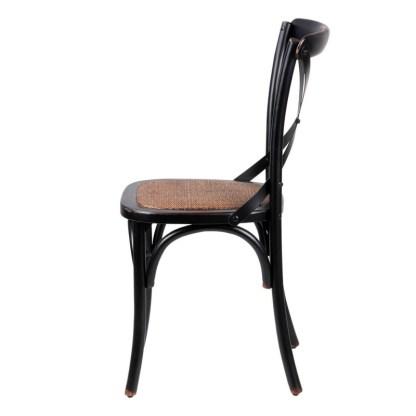 Silla Crossback Negro Antique