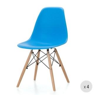 Silla Tower Wood Azul