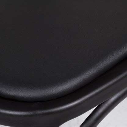 Silla Thonet tapizada Negro Cruceta