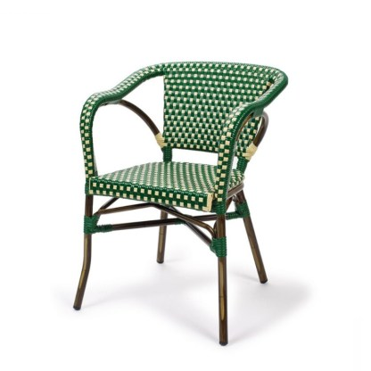Sillón Bistro Parisino Verde & Crema