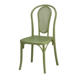 Silla Thonet Verde   Apilable