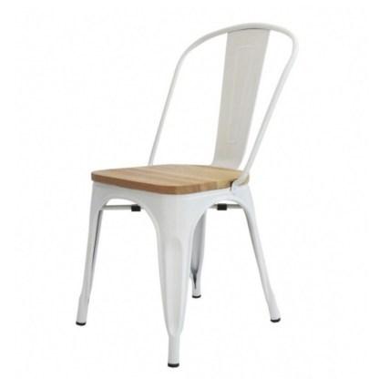 Silla Wood Tolix Style Blanca