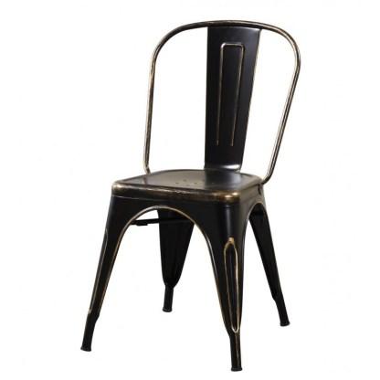 Silla Tolix Style Antique Negra