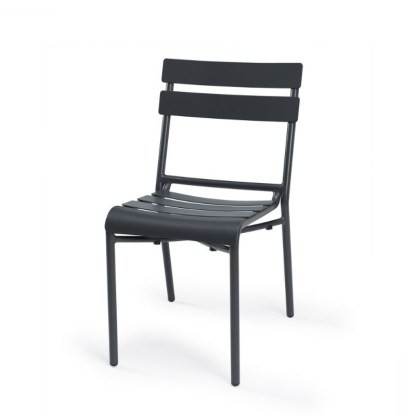 Silla Terraza Aluminio Negra