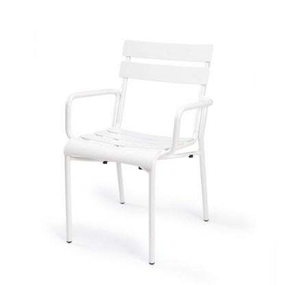 Sillón Terraza Aluminio Blanco