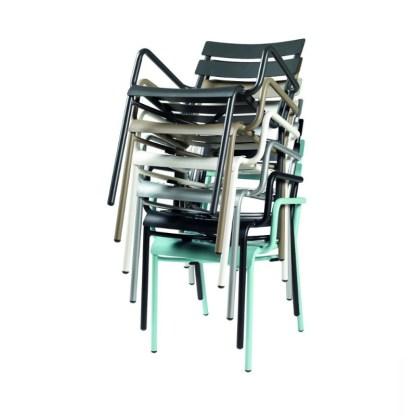 Sillones Terraza Aluminio Apilados