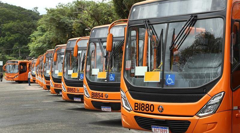 Novos ônibus Frota do transporte coletivo