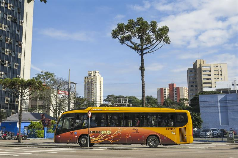 Ônibus em Curitiba no Paraná