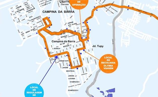Mapa Linha Araucária