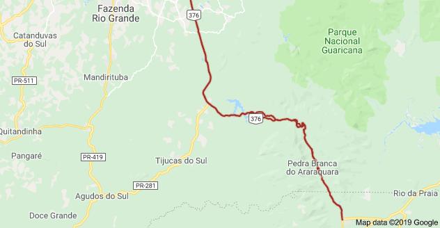 Rodovia BR-376 em Tijucas do Sul