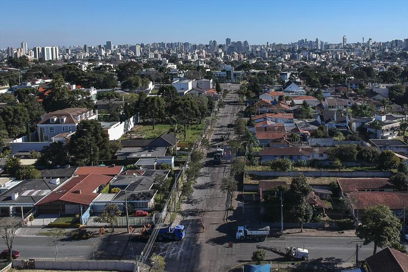 Rua Fagundes Varela vista do alto