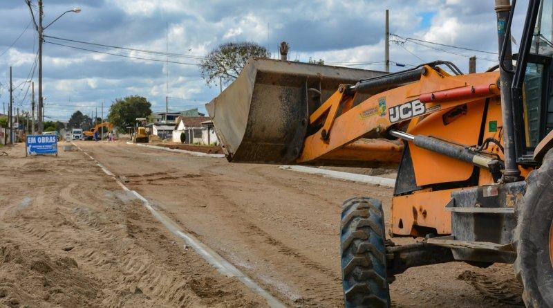 Obras Rua Rio Tibagi