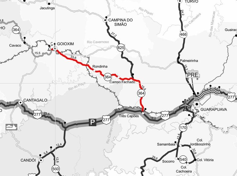 Mapa PR-364