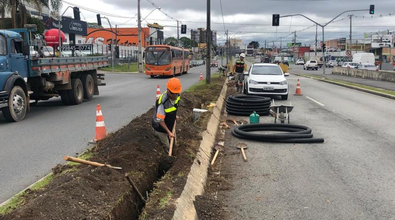 Obras na Avenida das Américas