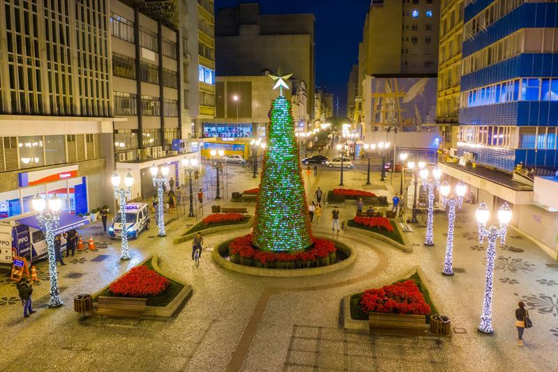Árvores de Natal Árvore de Natal da Rua XV