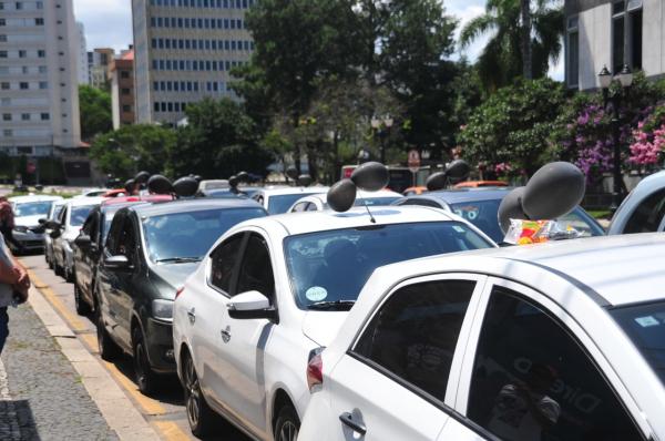 Protesto de motoristas de aplicativos