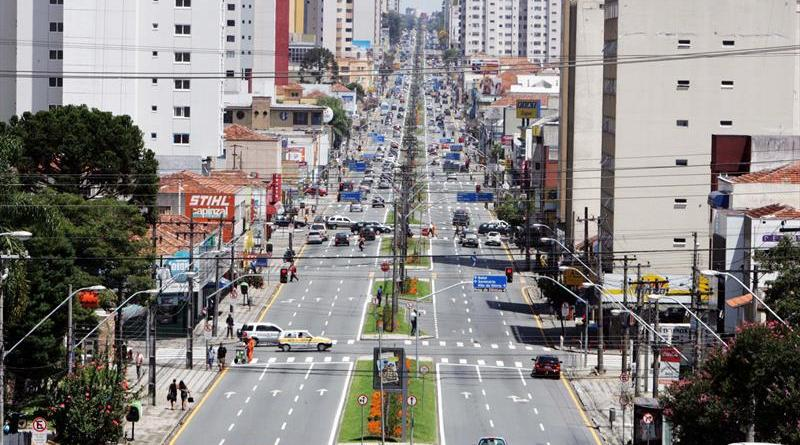 Avenida Visconde de Guarapuava Trânsito