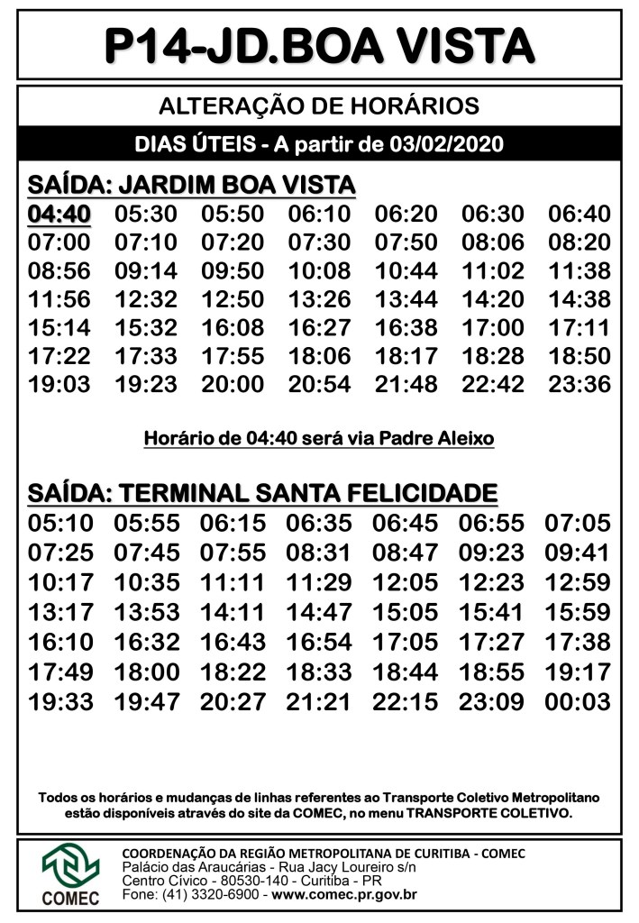 P14 Jardim Boa Vista Campo Magro