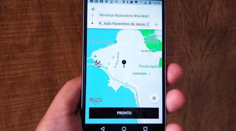 Transporte por aplicativo em Floripa