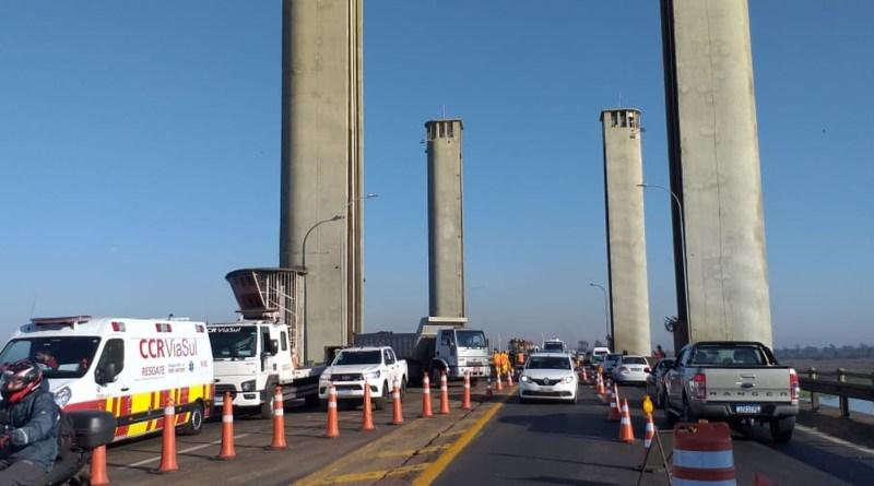 Obras na Ponte do Guaíba
