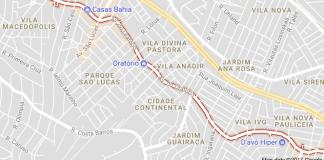 Avenida do Oratório Parque Santa Madalena