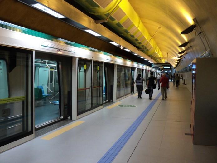 Transporte público Estações do Metrô Esquema especial
