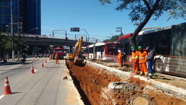 corredor de ônibus estrada de itapecerica obras