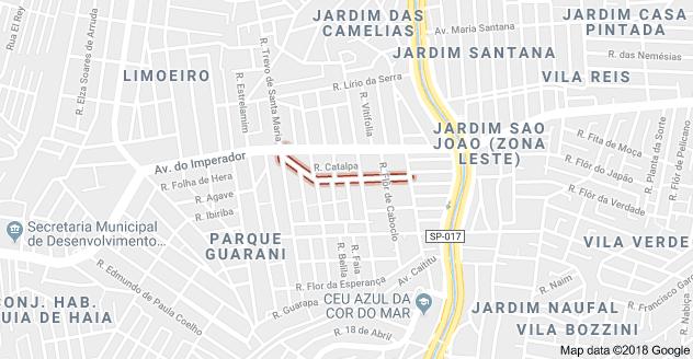 Rua Rodolfo Barbosa Parque Guarani
