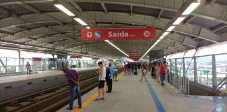 de passageiros plataforma da estação aeroporto guarulhos Linha 13-Jade