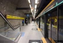 Plataforma da Estação São Paulo-Morumbi Operação ViaQuatro