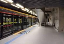 Plataforma da Estação São Paulo-Morumbi Linha 4-Amarela