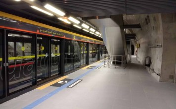 Coronavírus Plataforma da Estação São Paulo-Morumbi Linha 4-Amarela