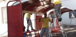 revitalização de abrigos de ônibus