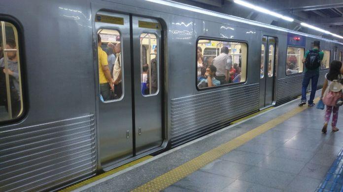 Metrô Greve dos metroviários Linha 1-Azul