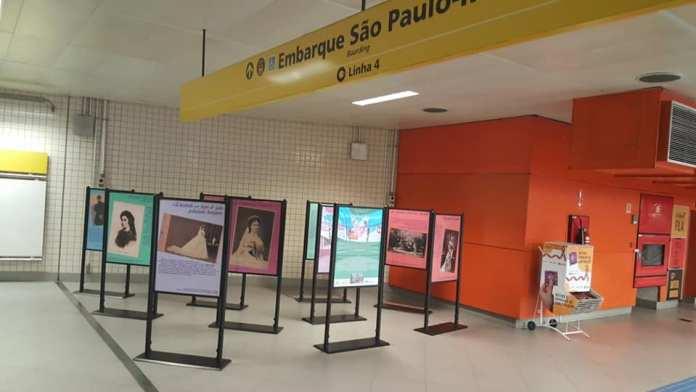 Exposições culturais na Linha 4-Amarela
