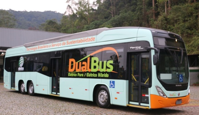 Ônibus elétrico híbrido DualBus