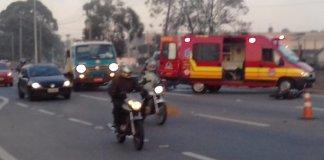 Acidente na Raposo Tavares com motocicleta