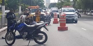 Motos na região da estação Belém na Radial Leste