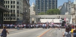 Manifestações no Centro
